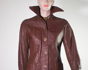 Vtg Brown Leather Jacket