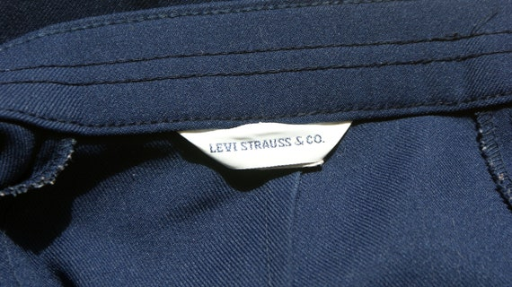 Vintage LEVI'S High Waisted Navy Trousers - image 4