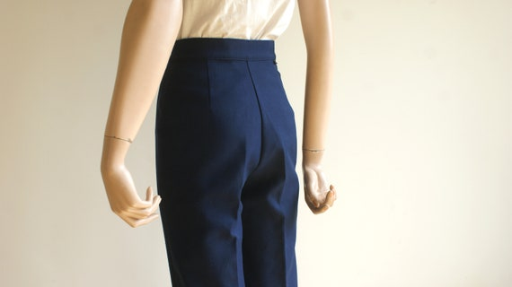 Vintage LEVI'S High Waisted Navy Trousers - image 3