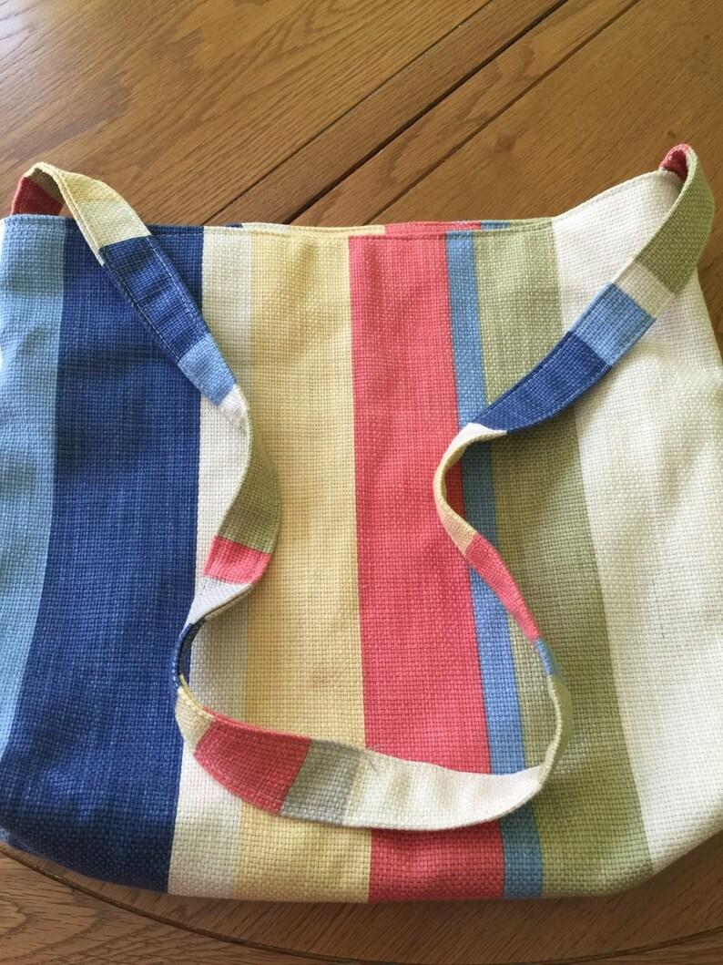 Striped beach bag Tote bag Multi Coloured Across the body
