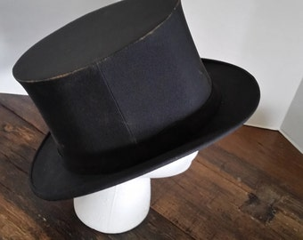 eacb2acb8d8 Formal Black Top Hat Collapsable size 7 1 2