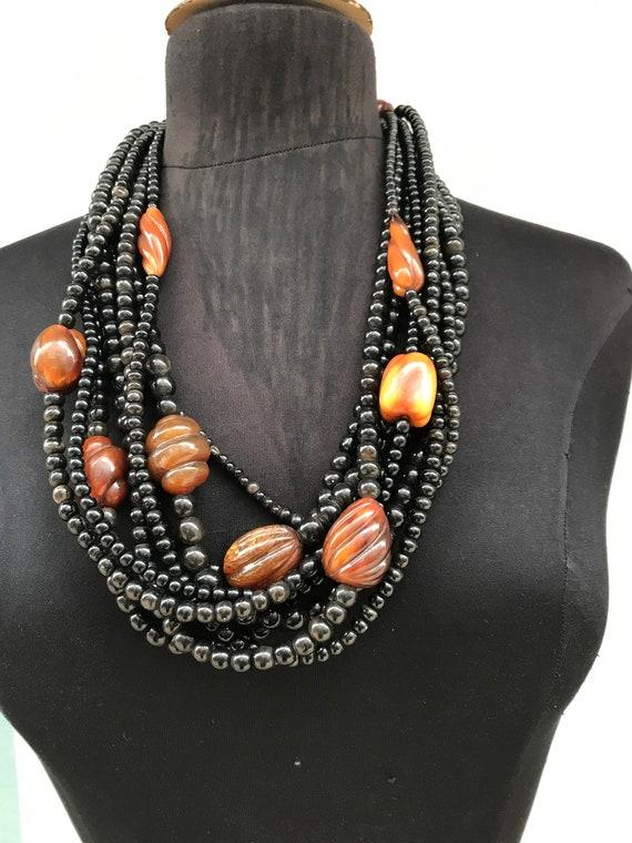 Bakelite layered necklace