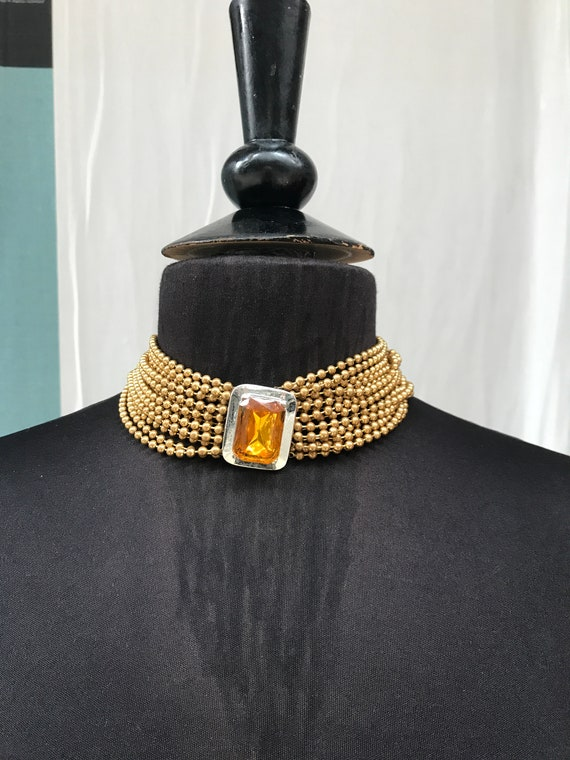 Cadoro japanned chain necklace