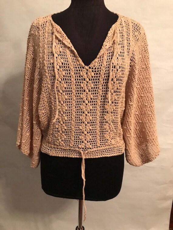 60's 70's Crocheted Top.