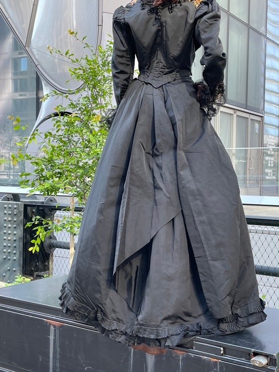 Victorian embroidered jacket and skirt.lace sheer… - image 3