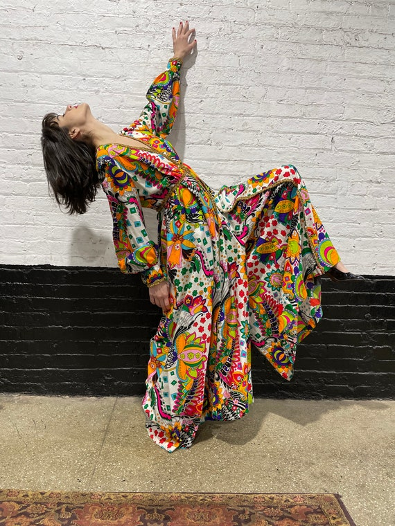 60's colorful jumpsuit, 60's jumpsuit, Hippy jumps