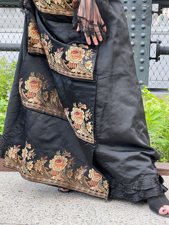 Victorian embroidered jacket and skirt.lace sheer… - image 7