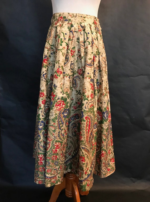 50s Hand-Painted Circle Skirt
