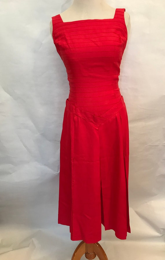 50's Red Dress and Bolero