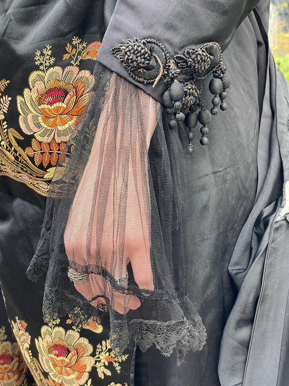Victorian embroidered jacket and skirt.lace sheer… - image 5