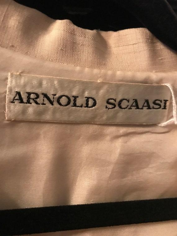 70's Arnold Scaasi cream color, Row silk Pantsuit - image 10