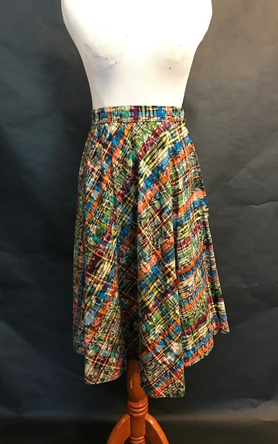 50s Cotton Patterned Circle Skirt