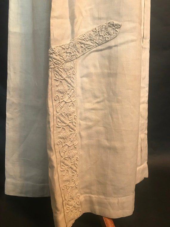 19th Century Embroidered Linen Suit - image 2