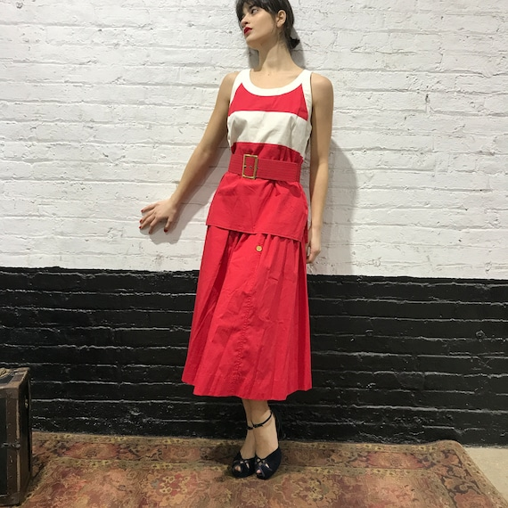 80's 90's 3 Piece Chanel with Belt, Chanel, Set, 3