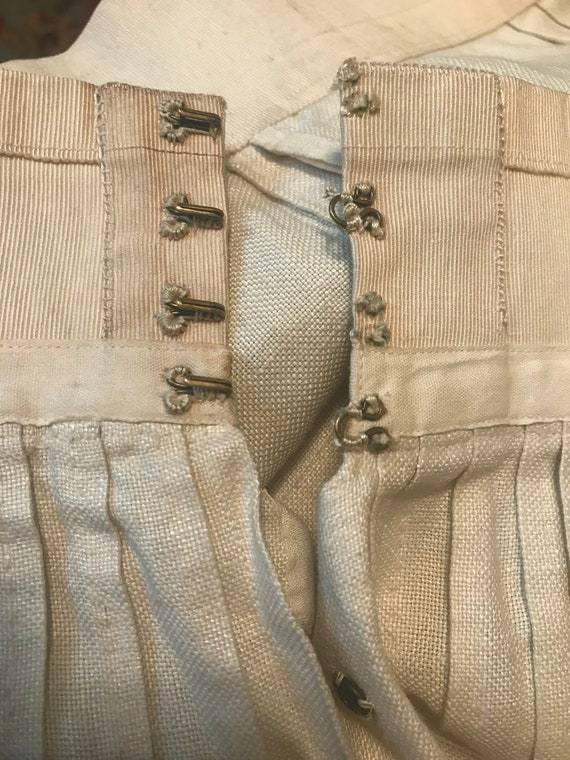 19th Century Embroidered Linen Suit - image 8