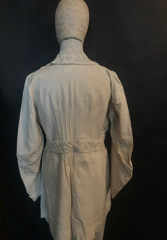 19th Century Embroidered Linen Suit - image 5