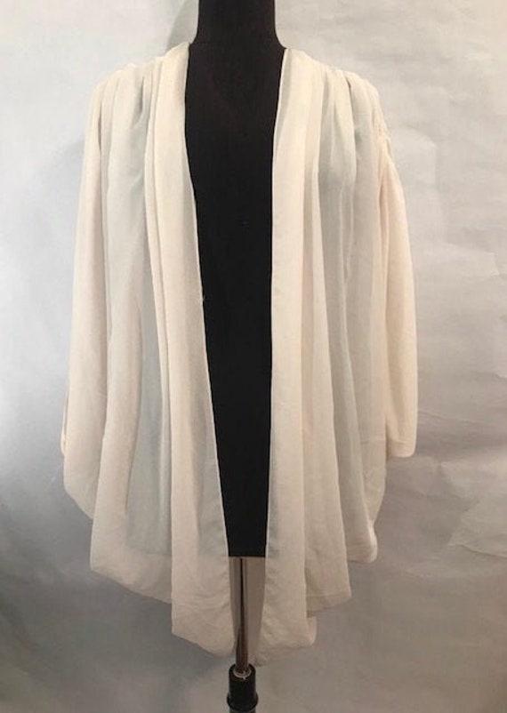 80's White Cocoon Coat