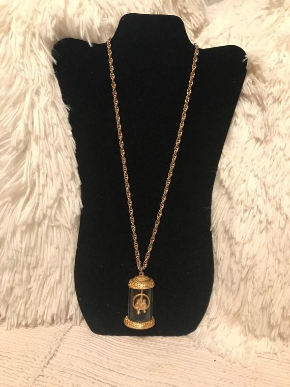 50's Lucite bird cage necklace