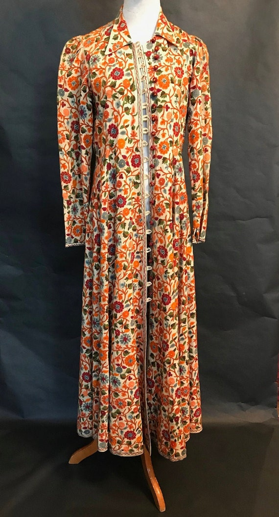 30s Hand Embroidered Coat Dress