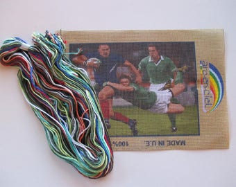 Canvas Kit, Rainbow, Rugby, cotton canvas, Reference: 115.20 / 15 x 20 cm.