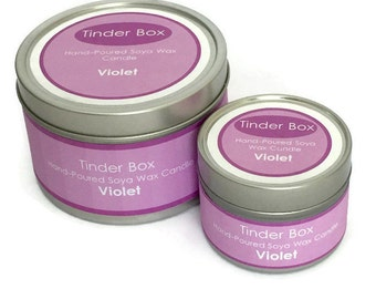 Violet Scented Soya Wax Candle