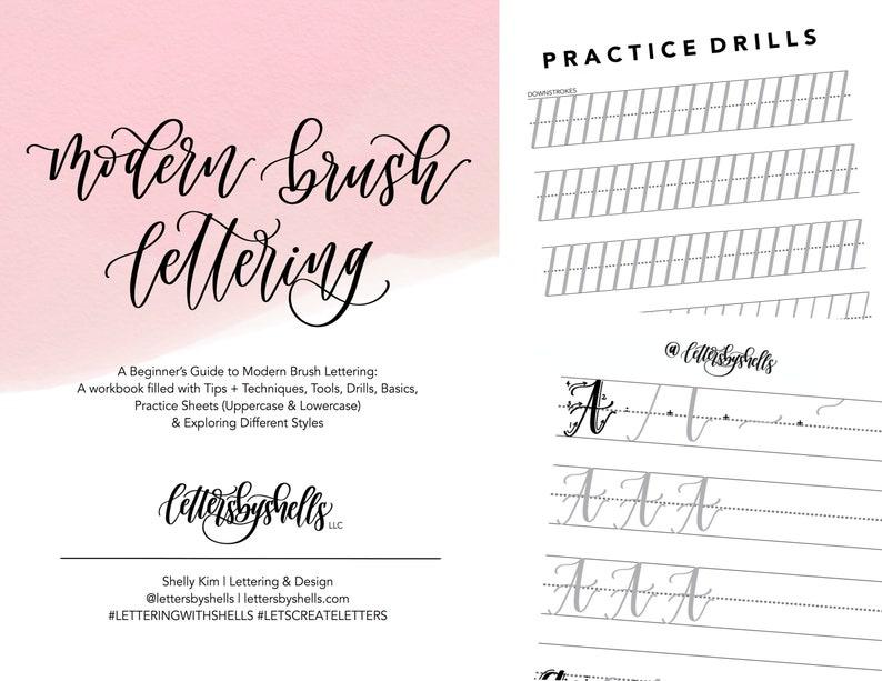 Beginner's Guide to Modern Brush Lettering  Modern image 0