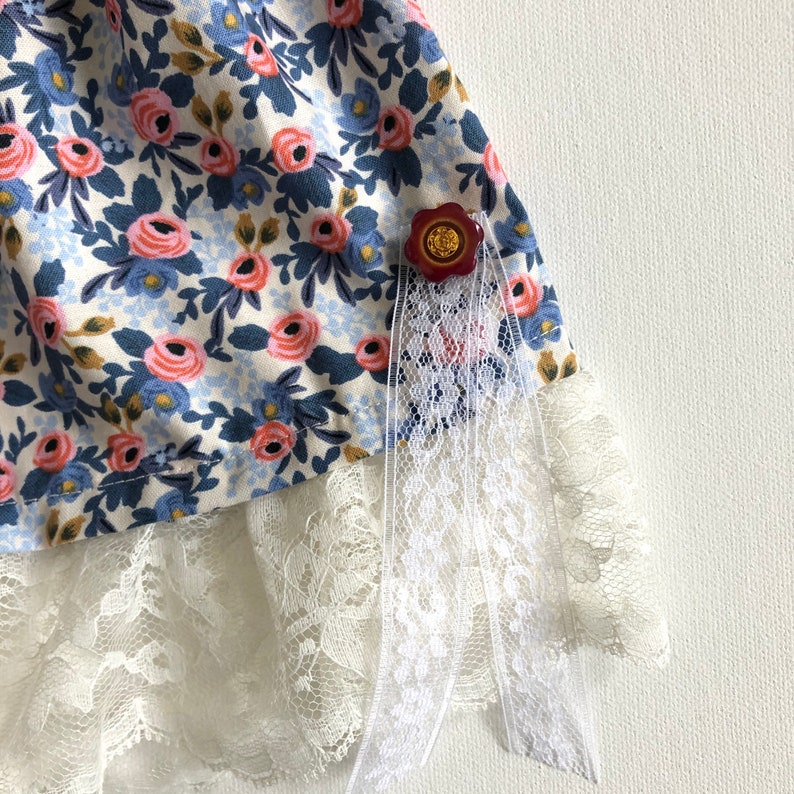 SMALL Blue Rosa Print Edition Fun /& Fabulous MEDIUM LARGE Rifle Paper Co Girls Skirt