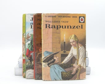 Ladybird Well-Loved Tales Four Book Collection: Rapunzel (Vintage, Fairytale)