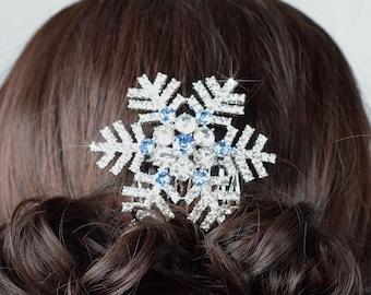 Winter Wedding,christmas hair accessories,Gold hair Comb Art Deco hair comb,snowflake comb,rose gold,modern MID CENTURY SNOWFLAKE christmas