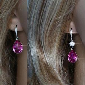 Set Handmade Teal Blue Zircon AAA Austrian Pear Crystal Earrings Sparkle-2176 Necklace Bridal Wedding