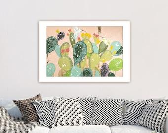 Cactus art Print, Blush pink decor, Cactus gift, Botanical print set, botanical poster, Hummingbird print, Hummingbird gift, #907CA