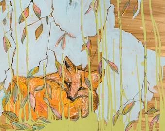 Fox Print, Wildlife Prints, Wildlife Art, Woodland Animal, Woodland Print, Woodland Nursery Decor, Forest Animals, #532FX