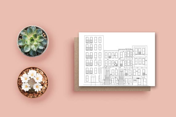 New york city line drawing card nyc greeting card new york etsy image 0 m4hsunfo