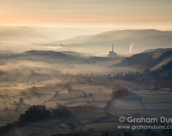 Hope Valley mist, Peak District, UK - a fine art landscape photography print