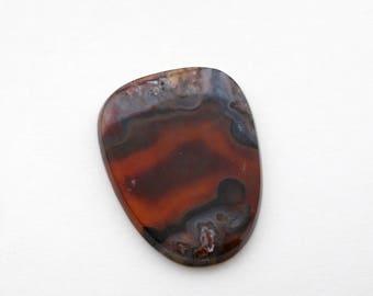 Ankara Agate - Turkish Stick Agate Oval Cabochon - Turkish Pseudomorph Brown Stone Cab - Destash
