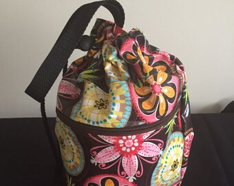 Project Bag Knitting Crochet - Laminated - Carnival Bloom