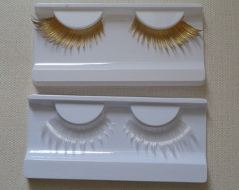 8fecfde8d3b A pair of gold or white party false eyelashes Reusable fashion false  eyelashes extension