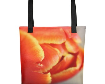 Designer Nature inspired Tote bag Floral Tulip Spring trendy Mom bag. Great for family outings