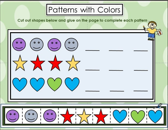 Patterns with Colors for Preschoolers