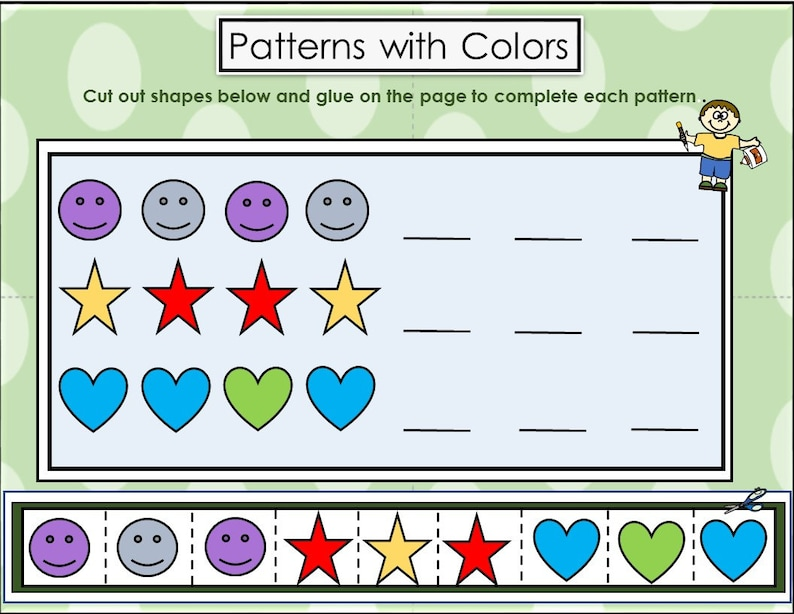 Patterns with Colors for Preschoolers | Etsy