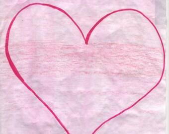 Pink Heart T-shirt Transfer