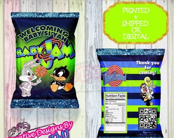 Baby Space Jam Chip Bag BABY SPACE JAM Bags Party Favor Birthday Jame Shower