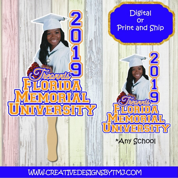 GRADUATION FANS Graduation Fans Grad Fan Custom Fan Graduation Favor Scroll Fan Graduation College High School Photo Fan Wedding Fan