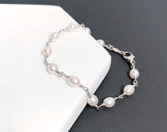 Pearl Bead Chain Bracelet - 5mm