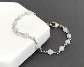 Amazonite Bead Chain Bracelet