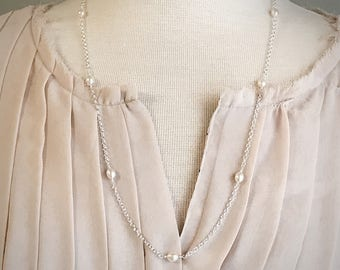 Pearl Necklace - Sterling Silver