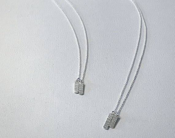 Ripple Tag Necklace - Sterling Silver