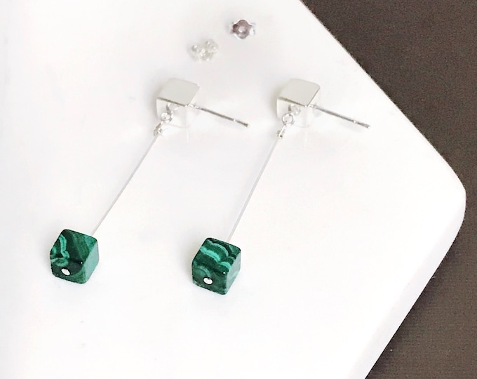 Featured listing image: Malachite Dangle Earrings