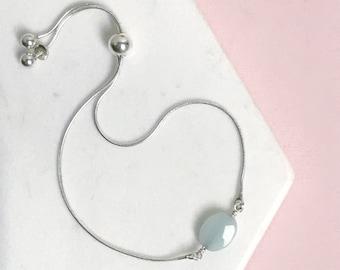 Amazonite Slide Bracelet