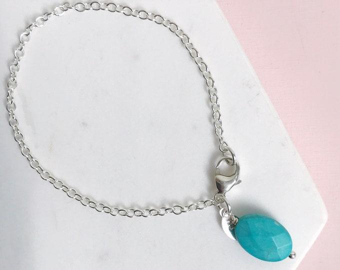 Featured listing image: Turquoise Charm Bracelet